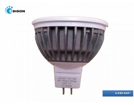 EDISON MR16 3W, 24V, LED LAMBA,2700K
