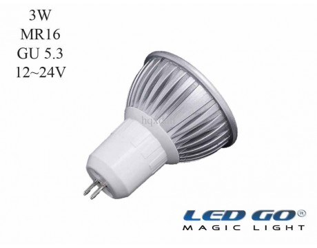 MR16 3W 24VDC GU5.3 IGNE AYAKLI LED LAMBA