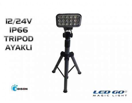 PPS-30-24V 30W TAŞIT TİPİ TRIPOD AYAKLI LED PROJEKTÖR/SPOT,IP66, 12/24VDC