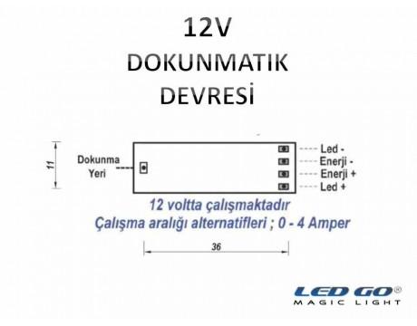 DOKUNMATIK DEVRESİ-12V-ULTRA SLIM-LED KANAL/PROFİL İÇİNE UYGUN