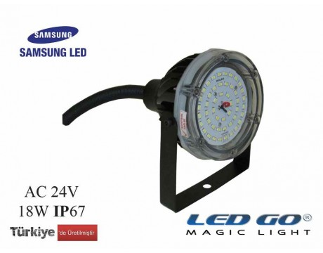 LBIT-17-24V,17W,YUVARLAK LED SPOT/PROJEKTÖR,24V AC-DC,IP67