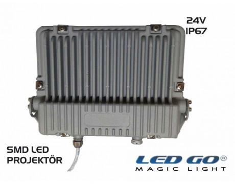 SP-44-24V,44W, 24V AC-DC,SLIM LED PROJEKTÖR,IP67