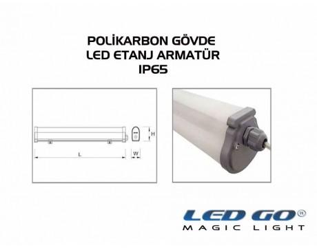 LET-20PCE LED POLIKARBON ETANJ ARMATÜR ,620mm 20W,220V,IP65