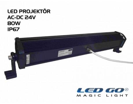 EP-80, ELIT SERISI ,SMDLED PROJEKTOR, 80W, 24V AC-DC, IP67
