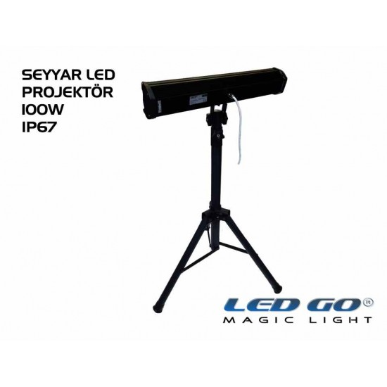EPS-100, ELIT SERISI ,SMDLED TRIPOD AYAKLI PROJEKTOR, 100W, 220V, IP67