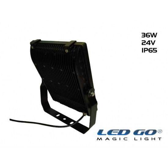 PP-36-24V LED PROJEKTÖR,42,5W,24V AC-DC,TEMPERLİ CAMLI,IP65
