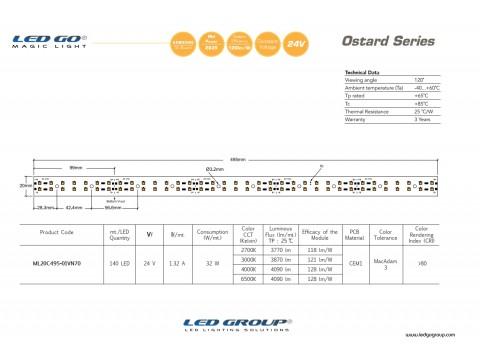 ML20C495-01VN70 LEDBAR 24V DC