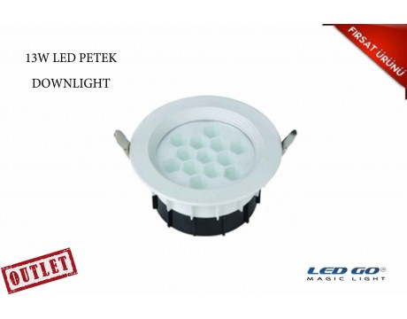 13W YUVARLAK PETEK LED DOWNLIGHT