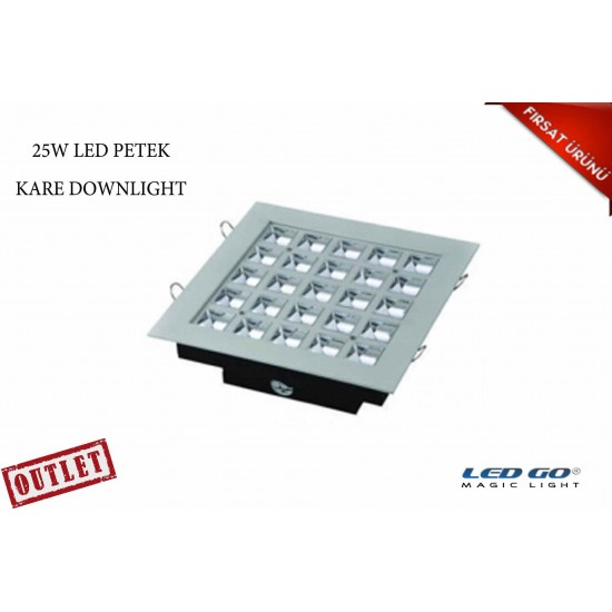 25W KARE PETEK LED DOWNLIGHT-SIVA ALTI-220V