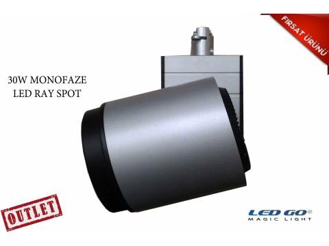 30W GRİ RENK RAY SPOT-220V-MONOFAZE