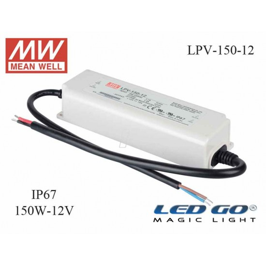 MEAN WELL  LPV-150-12 120 W, 12 V, 10 A,SABİT VOLTAJ