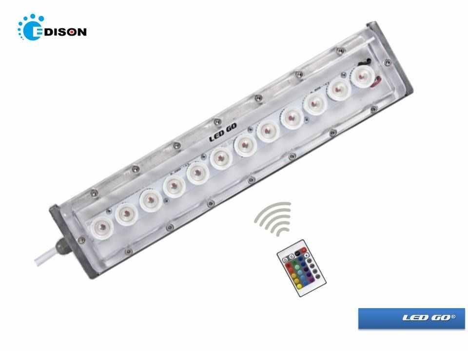 WW12 PC RGB LED DUVAR BOYAMA IR UZAKTAN KUMANDALI IP67 220V
