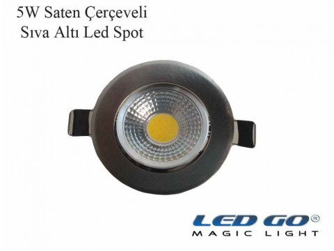 5W SATEN KASA LED DOWNLIGHT,220V,SIVA ALTI