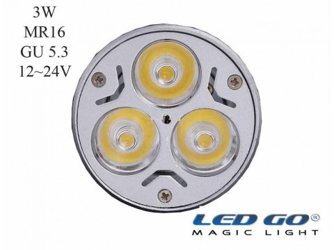 MR16 3W 24VDC GU5.3 IGNE AYAKLI LED LAMBA