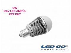 5W LED AMPÜL,24V AC-DC,E27 DUYLU