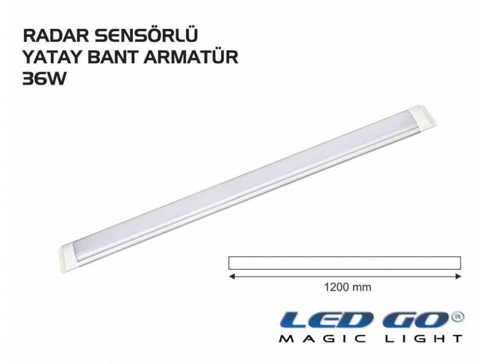 36W RADAR SENSORLU LED YATAY BANT ARMATÜR 220V,120CM