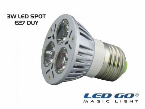 3 WATT LED SPOT AMPUL E27 DUY-YEŞİL RENK-24V