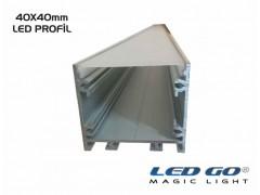 K40-SERISI LED KANALI 200cm,40x40mm