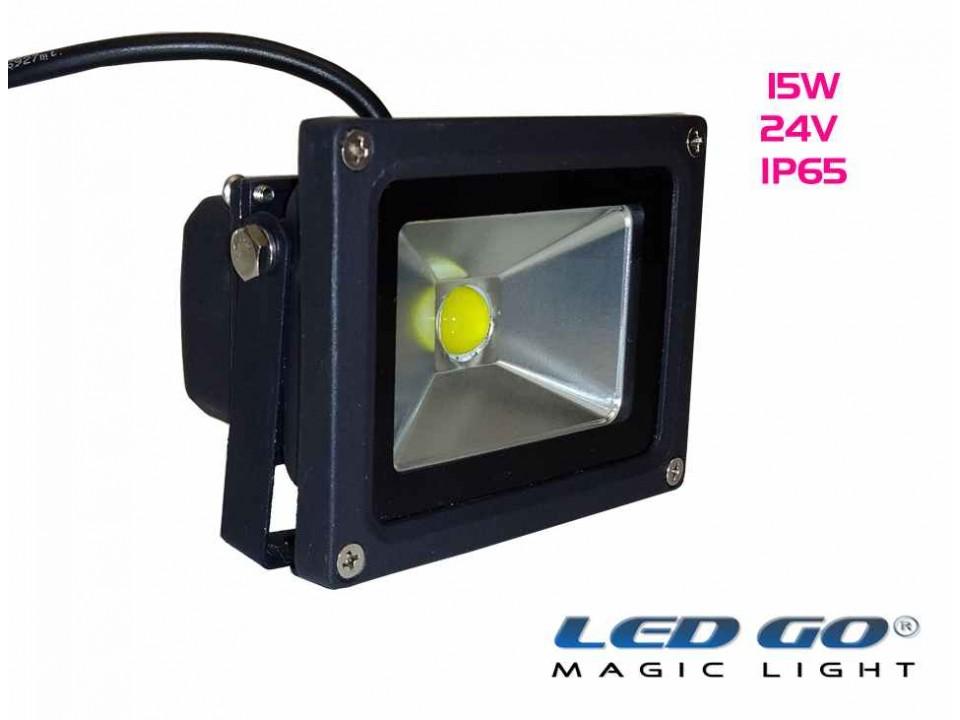 CP-15-24V, COBLED Projektör,15W, 24V, IP65