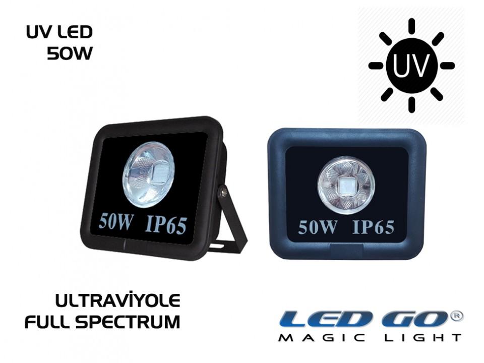 50W UV LED PROJEKTÖR - FULL SPECTRUM-COBLED-220V