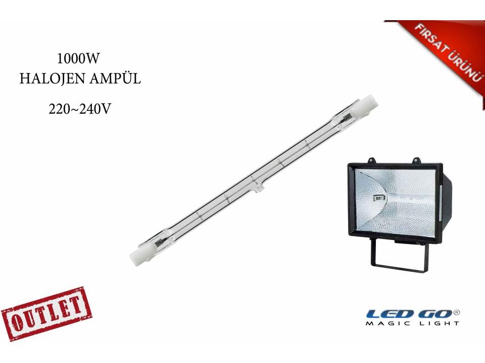 1000W Rx7S ÇUBUK HALOJEN AMPÜL-220V